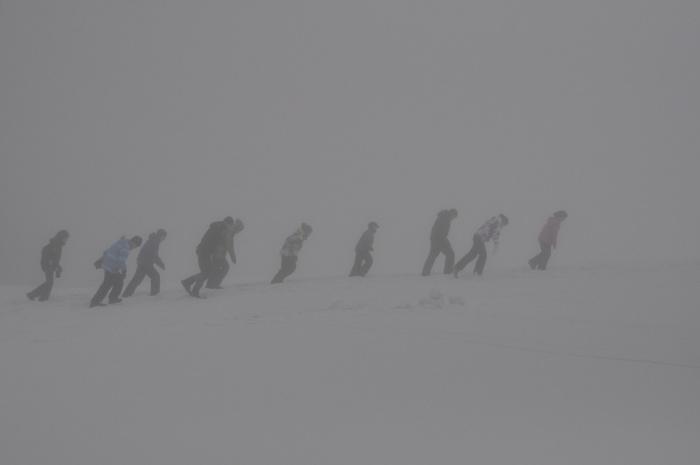 Kempovanie na snehu