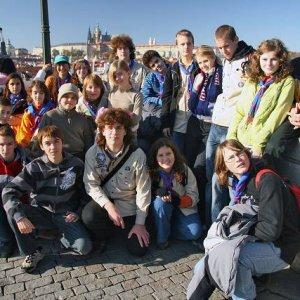 1.11.2007  13:24, autor: Teoretik / Na Karlovom moste s Hradčanami v pozadí