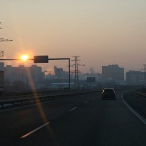 10.1.2009  8:03, autor: Teoretik / Sunrise on the highway
