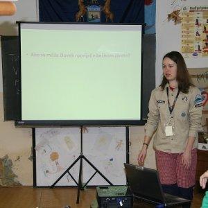 1.3.2009  10:24, autor: Teoretik / Lucia prednáša o stupňoch a odborkách