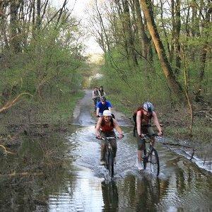 10.4.2009  18:30, autor: Teoretik / Cesta popri Morave bola na viacerých miestach zatopená