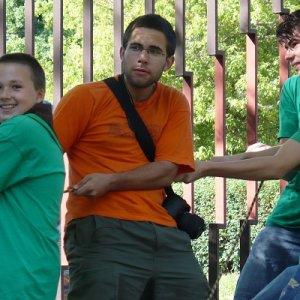 13.6.2009  9:16, autor: Amigo / Napínanie lana na lanovú prekážku