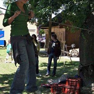 13.6.2009  13:12, autor: Zuzka / Prejsť cez lanovú prekážku bola celkom sranda