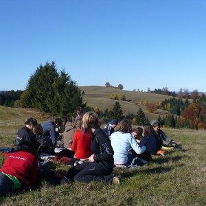 30.10.2009  12:54, autor: Amigo / Obed na prekrásnych lúkach hrebeňa Veporských vrchov