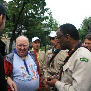 30.7.2010 11:45 / Stretnutie so skautami z Lýbie (Meeting with scouts from Lybia)