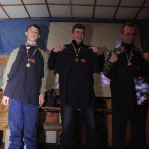 30.1.2011 21:30, autor: Chamurapi / Stupne víťazov - 2. Šimon,  1. Marcel, 3. Marko