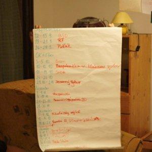 6.9.2014 0:11, autor: Vaniš / Maťo ukazuje ich plán podujatí