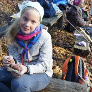 Výlet vĺčat a včielok na Biele skaly (26.11.2016)