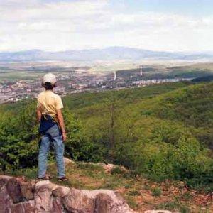 Pohľad z Pustého hradu na mesto Zvolen