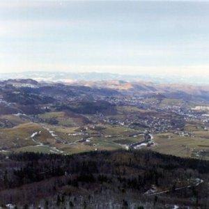 Výstup na Sitno bol kvôli snehu dosť namáhavý