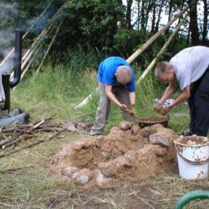 Stavba tradičnej táborovej pece