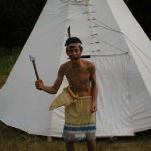 Neohrozený indiánsky bojovník...