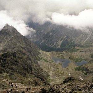 Na vrchole Rysov sa na chvíľu potrhala oblačnosť