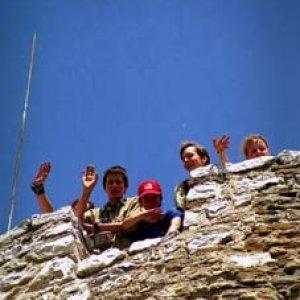 Mávanie z hradnej veže