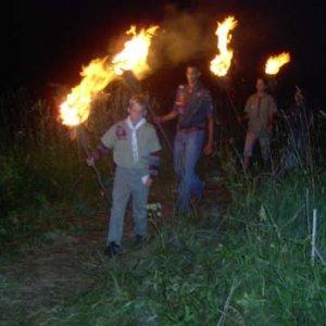 Slávnostné zapaľovanie ohňa