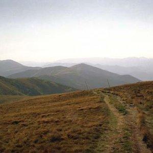 Pohľad späť - v diaľke Veľká Chochuľa