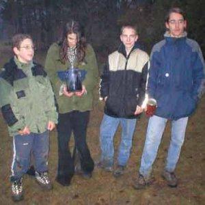 Víťazné družstvo (Mišo, Nina, Aďo, Sova)