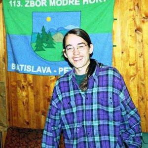 Sova - človek s modrými horami v pozadí :-)