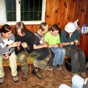 V prvý večer sa zakončovali laná