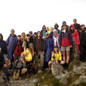 Tesne pod vrcholom Veľkej Svišťovky (kvôli búrke sme na vrchol nešli)