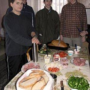Na raňajky boli švédske stoly, ktoré pripravovali Dikobrazi