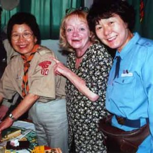 Návšteva skautských vodkýň z Japonska (2.4.2002)