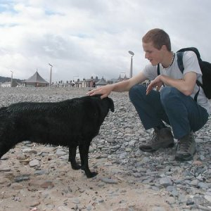 21.7.2005  11:51 / Tajuplný čierny pes, ktorý nás sprevádzal celú cestu