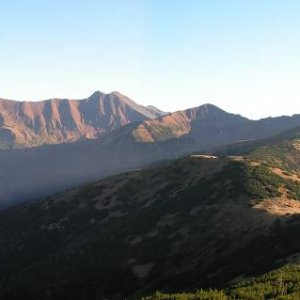 1.11.2005  21:26 / Pohľad na hlavný hrebeň Západných Tatier